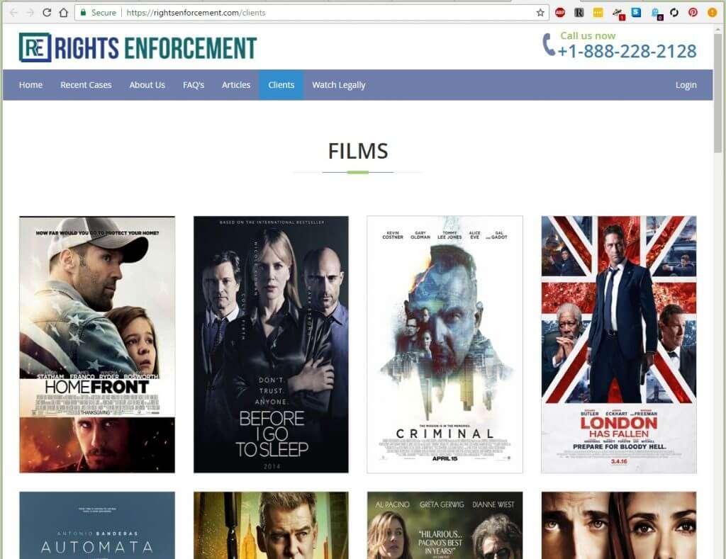 Rights Enforcement | RightsEnforcement.com Screenshot